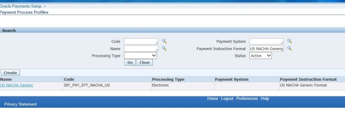 Payment Instruction Format Oracle Apps